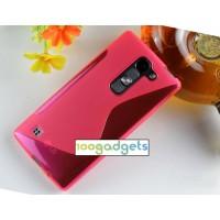 Силиконовый S чехол для LG Spirit Пурпурный