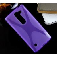 Силиконовый X чехол для LG Spirit Фиолетовый