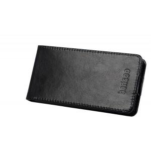 Чехол вертикальная книжка для Alcatel One Touch Idol Ultra Черный