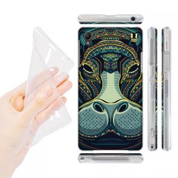 Силиконовый матовый дизайнерский чехол с эксклюзивной серией принтов для Sony Xperia Z1 (изготовление на заказ)