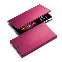 Чехол флип с отделением для карт для HTC One Max Пурпурный