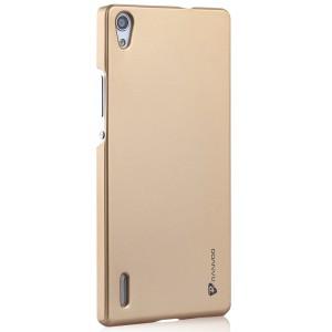Пластиковый чехол для Huawei Ascend P7 Бежевый