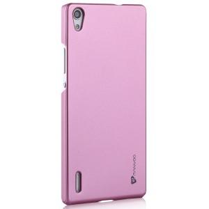 Пластиковый чехол для Huawei Ascend P7 Розовый