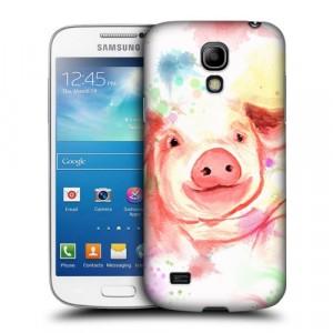 Пластиковый матовый дизайнерский чехол с эксклюзивной серией принтов для Samsung Galaxy S4 Mini (изготовление на заказ)