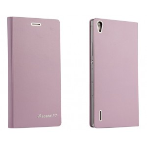 Оригинальный ультратонкий клеевой чехол для Huawei Ascend P7 Розовый