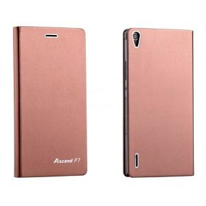 Оригинальный ультратонкий клеевой чехол для Huawei Ascend P7 Коричневый