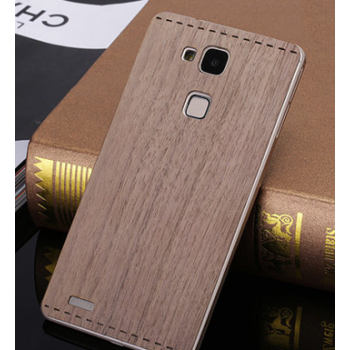 Клеевая натуральная деревянная накладка из пород ореха и бамбука для Huawei Mate 7