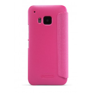 Чехол смартфлип с окном вызова на пластиковой матовой нескользящей основе для HTC One M9