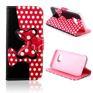 Дизайнерский чехол портмоне подставка с защелкой и принтом Минни для HTC One M9