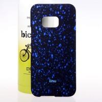 Пластиковый матовый дизайнерский чехол с голографическим принтом Звезды для HTC One M9 Синий