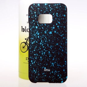 Пластиковый матовый дизайнерский чехол с голографическим принтом Звезды для HTC One M9