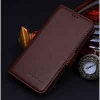 Кожаный чехол портмоне (нат. кожа) для HTC One M9 Коричневый