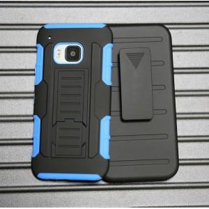 Антиударный силиконовый чехол с поликарбонатной крышкой и ножкой-подставкой для HTC One M9