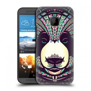 Пластиковый матовый дизайнерский чехол с эксклюзивной серией принтов Fauna Contrast для HTC One M9 (изготовление на заказ)