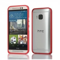 Металлический бампер для HTC One M9 Красный