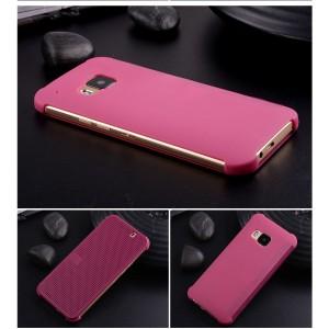 Точечный чехол смарт-флип с функциями оповещения для HTC One M9 Фиолетовый