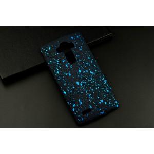 Пластиковый матовый дизайнерский чехол с голографическим принтом Звезды для LG G4