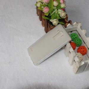 Силиконовый матовый полупрозрачный чехол для LG G4 Белый