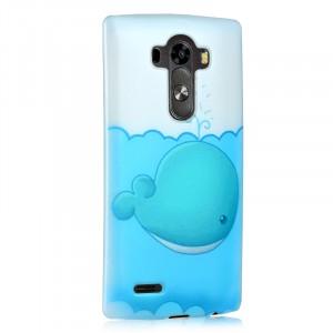 Пластиковый матовый дизайнерский чехол с УФ-принтом для LG G4