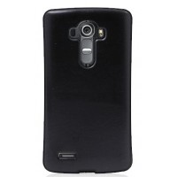 Силиконовый нескользящий чехол накладка текстура Кожа для LG G4 Черный