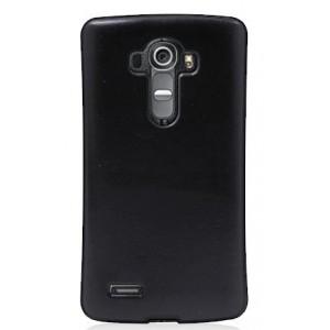 Силиконовый нескользящий чехол накладка текстура Кожа для LG G4