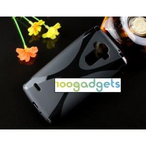 Силиконовый X чехол для LG G4 Черный