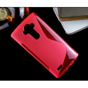 Силиконовый S чехол для LG G4 Красный