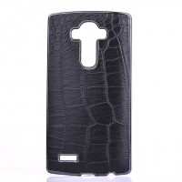 Дизайнерский поликарбонатный чехол с кожаным покрытием текстура Крокодил для LG G4
