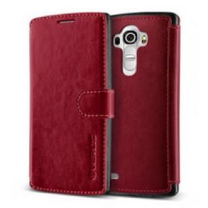 Кожаный чехол портмоне (нат. кожа) с магнитной застежкой и усиленной прошивкой для LG G4