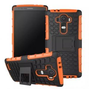 Силиконовый чехол экстрим защита для LG G4 Оранжевый