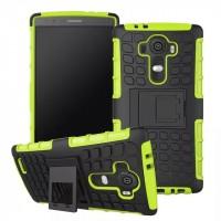 Силиконовый чехол экстрим защита для LG G4 Зеленый