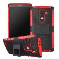 Силиконовый чехол экстрим защита для LG G4 Красный