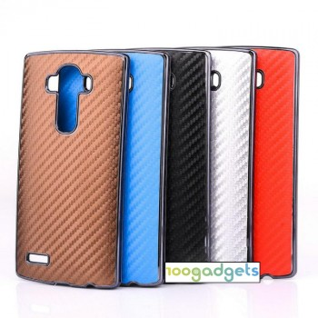 Текстурный поликарбонатный чехол с карбоновым покрытием для LG G4