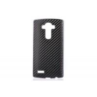 Текстурный поликарбонатный чехол с карбоновым покрытием для LG G4 Черный