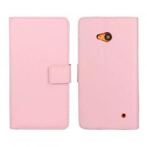 Чехол портмоне подставка с защелкой для Microsoft Lumia 640 Розовый