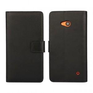 Чехол портмоне подставка с защелкой для Microsoft Lumia 640 Черный