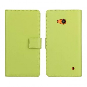 Чехол портмоне подставка с защелкой для Microsoft Lumia 640 Зеленый