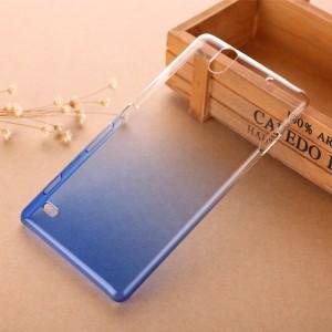 Пластиковый градиентный полупрозрачный чехол для Sony Xperia C4