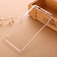 Пластиковый градиентный полупрозрачный чехол для Sony Xperia C4 Белый