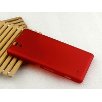 Пластиковый матовый непрозрачный чехол для Sony Xperia C4 Красный