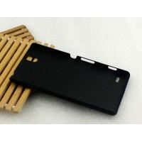 Пластиковый матовый непрозрачный чехол для Sony Xperia C4 Черный