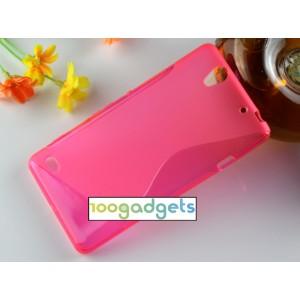 Силиконовый S чехол для Sony Xperia C4 Пурпурный