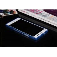 Металлический бампер для Huawei Ascend P7 Синий