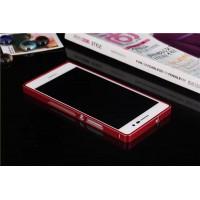 Металлический бампер для Huawei Ascend P7 Красный