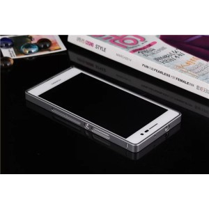 Металлический бампер для Huawei Ascend P7 Серый