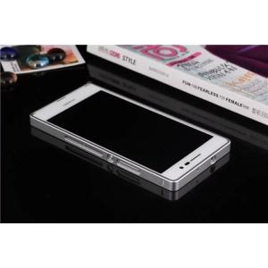 Металлический бампер для Huawei Ascend P7 Белый