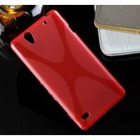Силиконовый X чехол для Sony Xperia C4 Красный