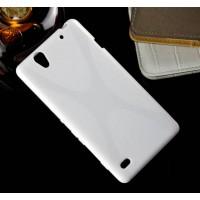 Силиконовый X чехол для Sony Xperia C4 Белый