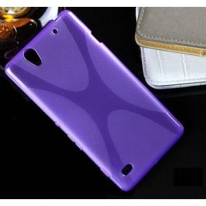 Силиконовый X чехол для Sony Xperia C4 Фиолетовый