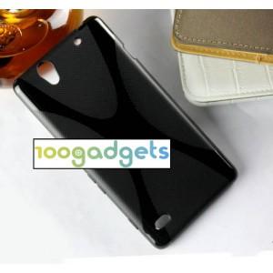 Силиконовый X чехол для Sony Xperia C4 Черный